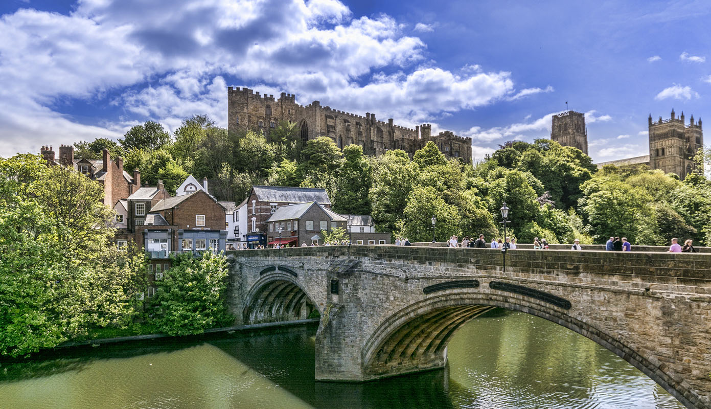 Picture of Framwellgate Bridge, Durham Castle and Durham Cathedral