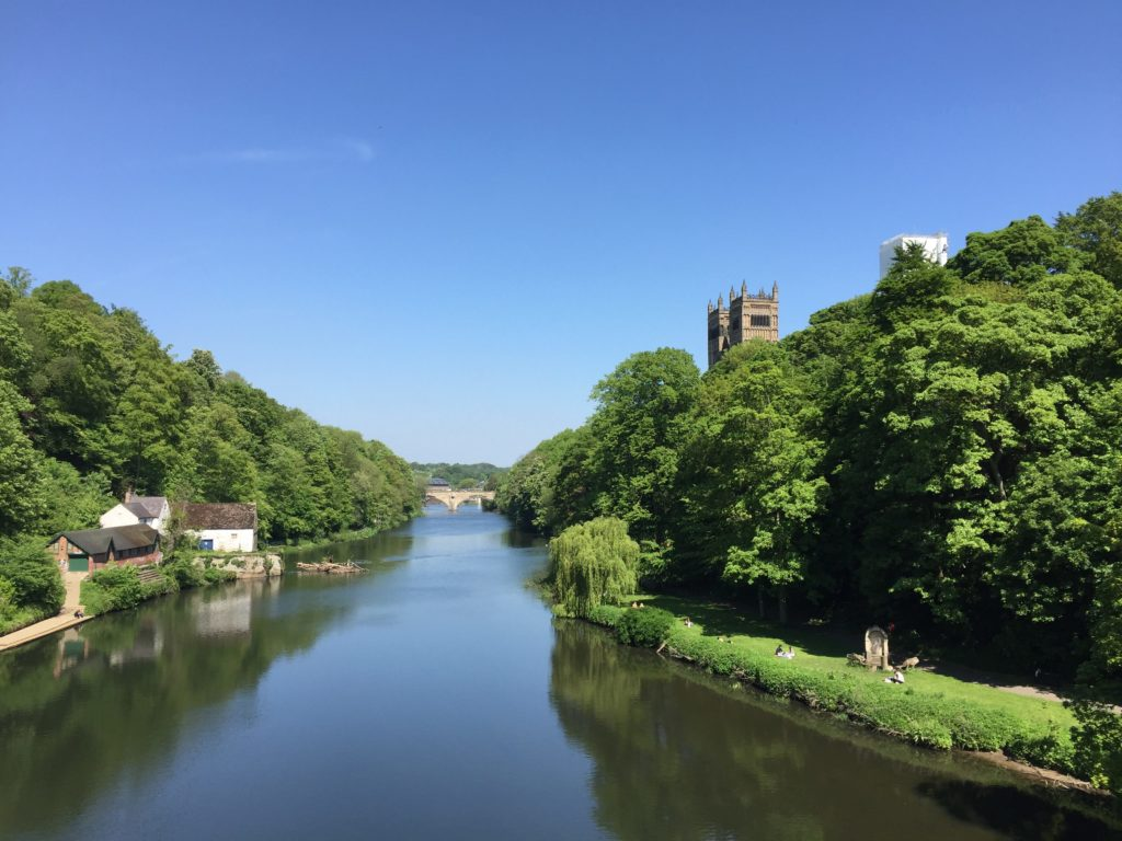 Summer weather in Durham. A view from Prebends Bridge