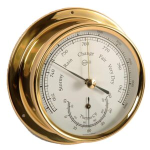 Barigo barometer and thermometer in brass case