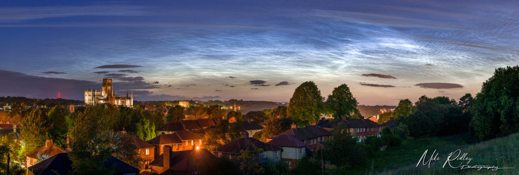 noctilucent clouds over durham city