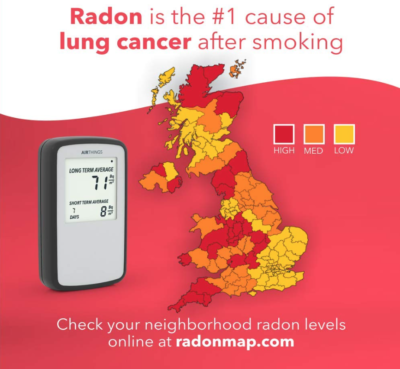 Airthings 222 Corentium Home Radon Gas Detector