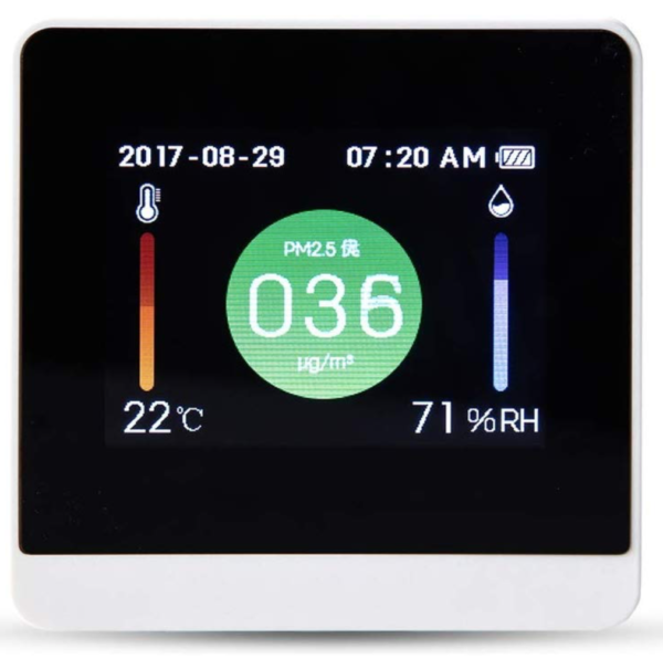 Yongfeng Home Humidity Monitor, USB Charging, PM2.5 Air Quality Detector