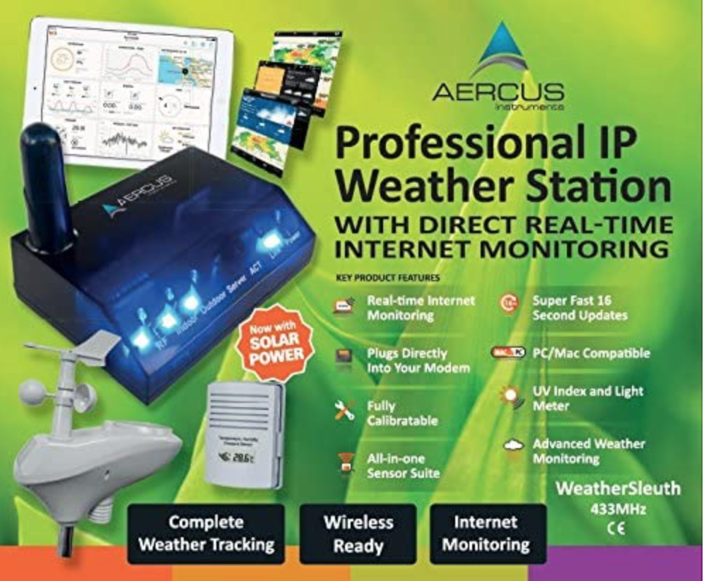 Aercus Instruments Wireless Weather Station WeatherSleuth
