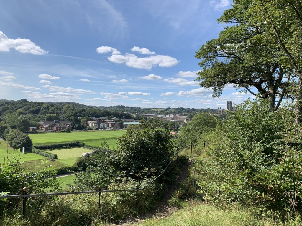 View across Durham on the last day of the summer 2020