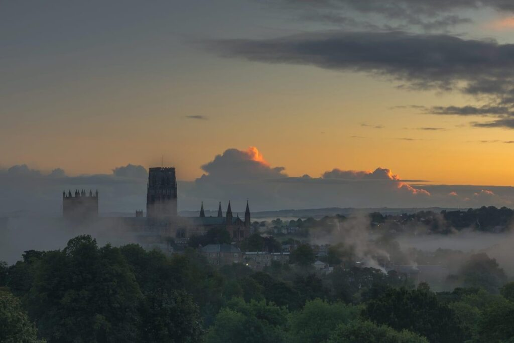 Misty morning over Durham Cathedral 24th September 2020