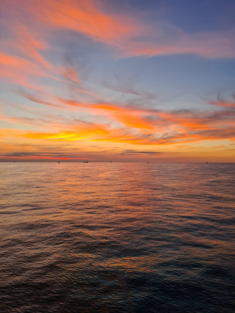 Sunset over the North Sea 31st August 2020