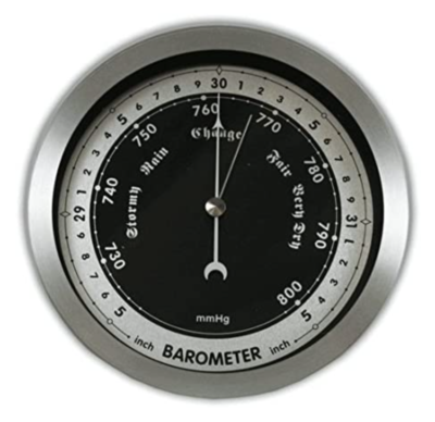 Ambient Weather WS-152B 6%22 Contemporary Barometer