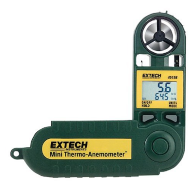 Extech 45158 Instruments Mini Thermo-Anemometer with Humidity