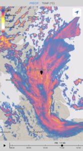 Rainfall radar from December 4th 2020