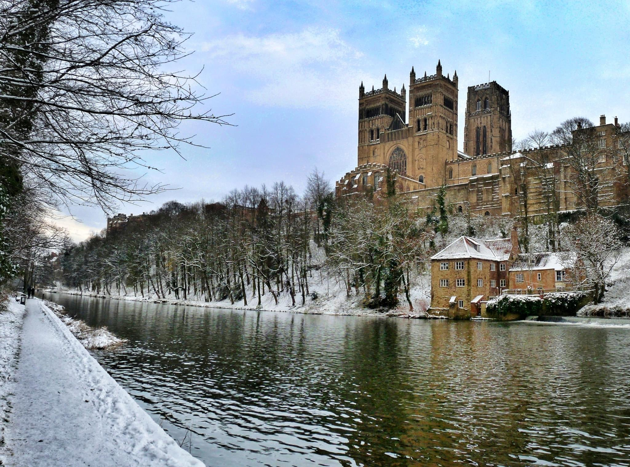 Durham riverside in the snow 7th January 2021