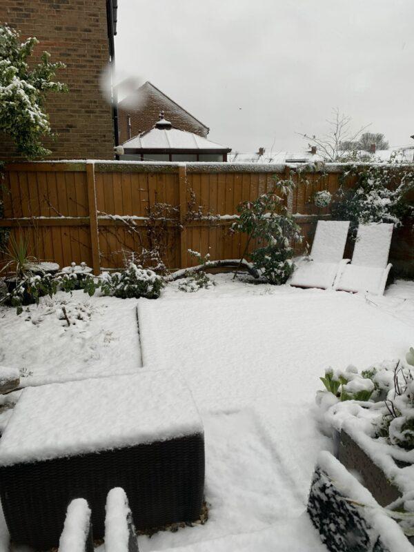 Snowfall in Durham City 8th January 2021.
