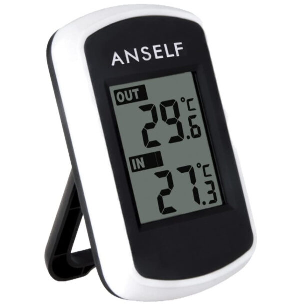 Anself Digital LCD Wireless Indoor Outdoor Thermometer