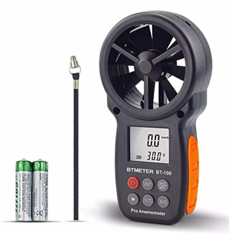 BTMETER BT-100 Digital Anemometer Handheld