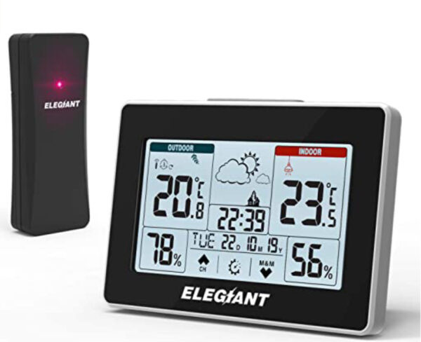 ELEGIANT Wireless Weather Station, Digital Thermometer Hygrometer