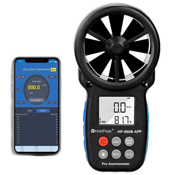 Holdpeak Digital Bluetooth Handheld Anemometer
