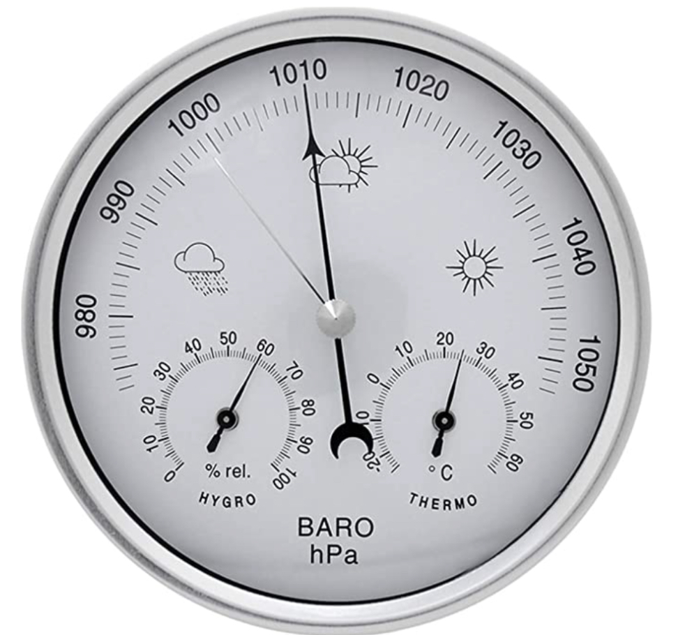 JAOK Analog Barometer with Thermometer Hygrometer, 3 in 1 Weather Station
