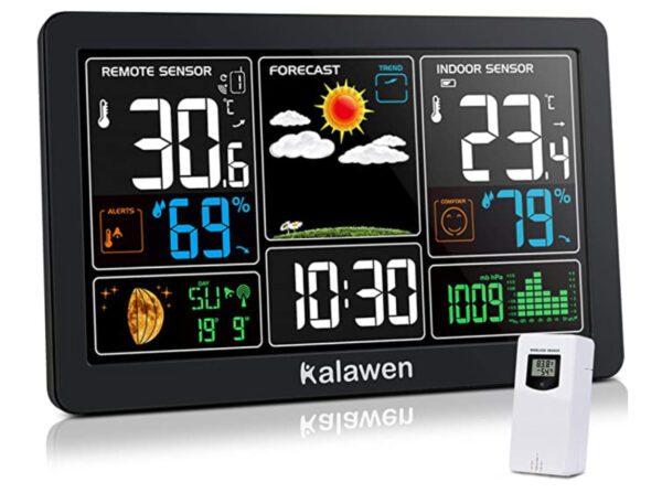 Kalawen Weather Station with Outdoor Indoor Sensor