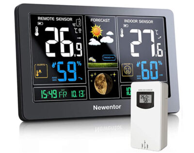 Newentor Weather Station with Outdoor Sensor Wireless