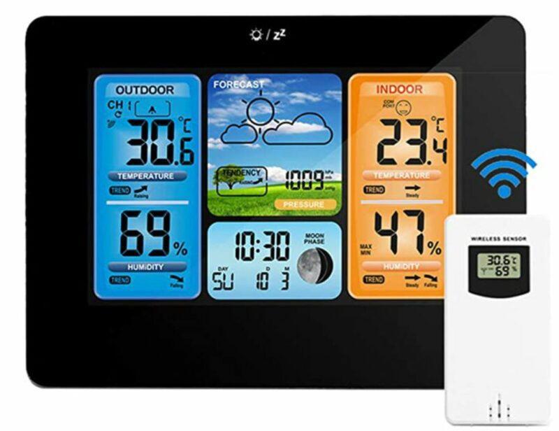 Powcan Wireless Weather Stations Indoor Outdoor
