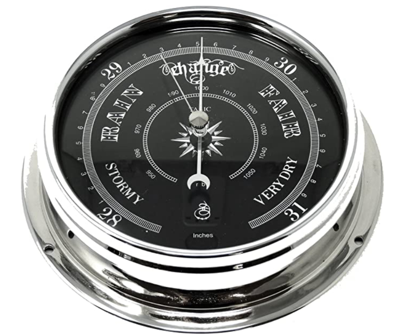Tabic Prestige Traditional Barometer in Chrome