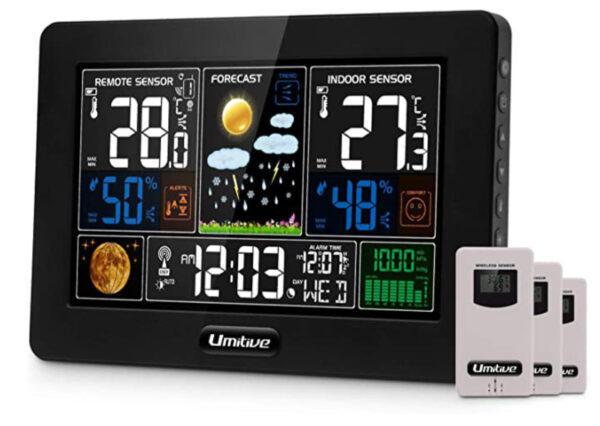 Umitive Wireless Weather Station with 3 Outdoor Sensors
