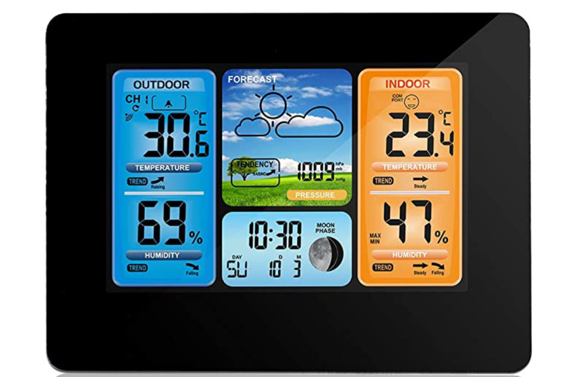 Wovatech Indoor Outdoor Digital Thermometer Hygrometer | Wireless
