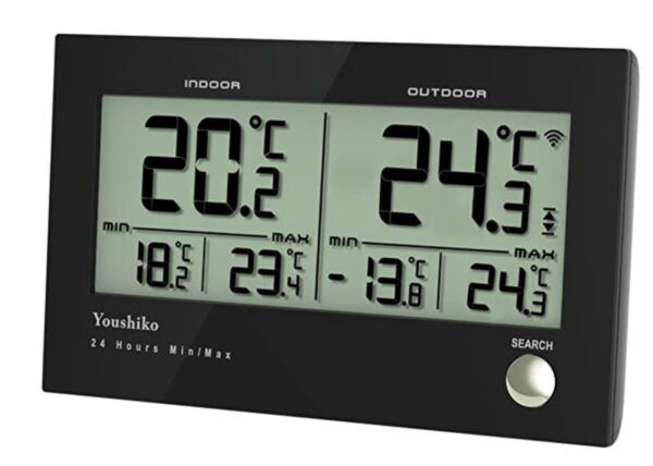 Youshiko YC9075 Digital Wireless Indoor outdoor Weather Thermometer